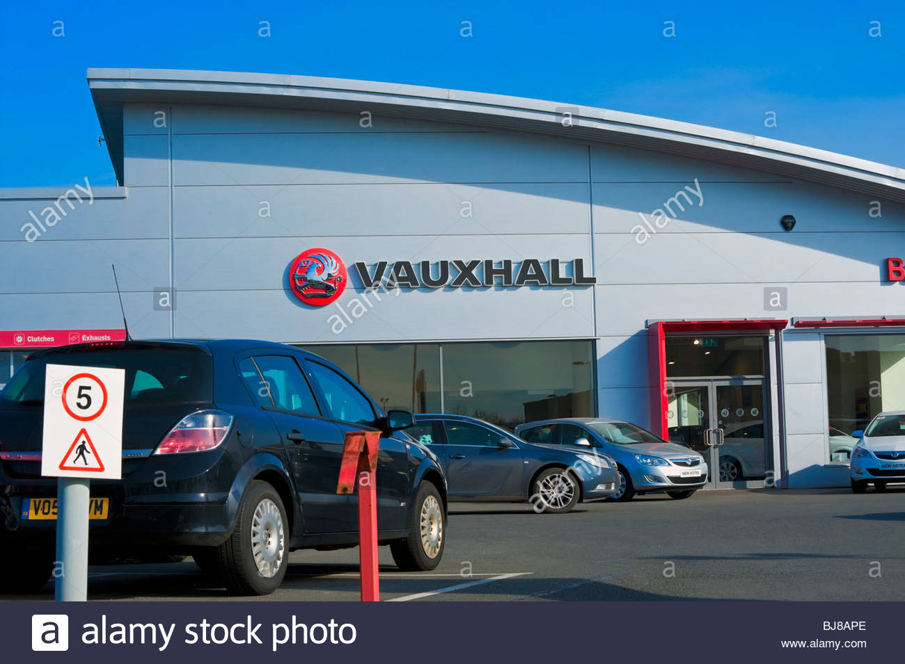 Vauxhall car showroom in Hereford, UK. Vauxhall car dealership Stock ...