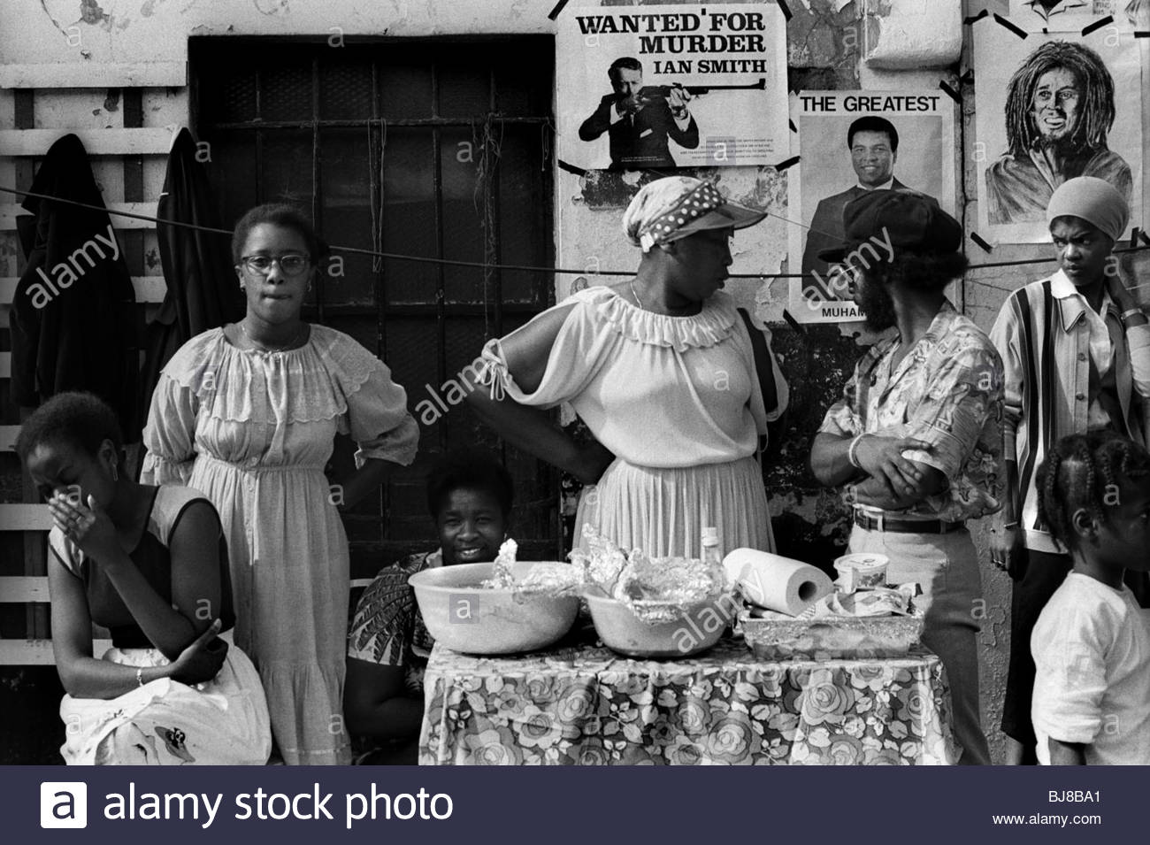Jamaicans at the Notting Hill Carnival in the 1970s - Stock Image