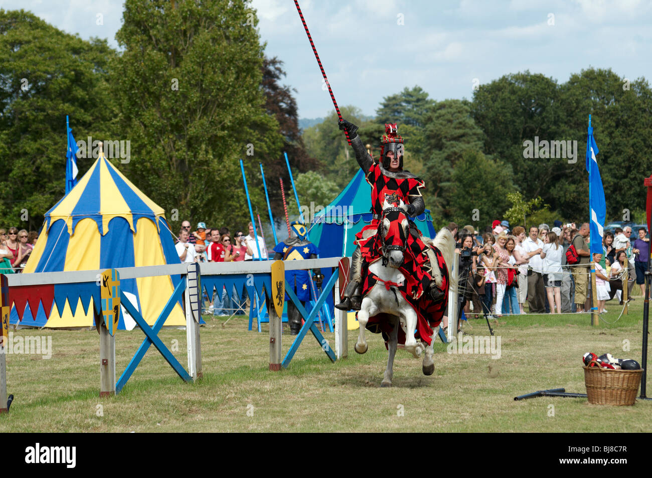 A man in a medieval Knight costume on a horse & A man in a medieval Knight costume on a horse Stock Photo: 28459419 ...