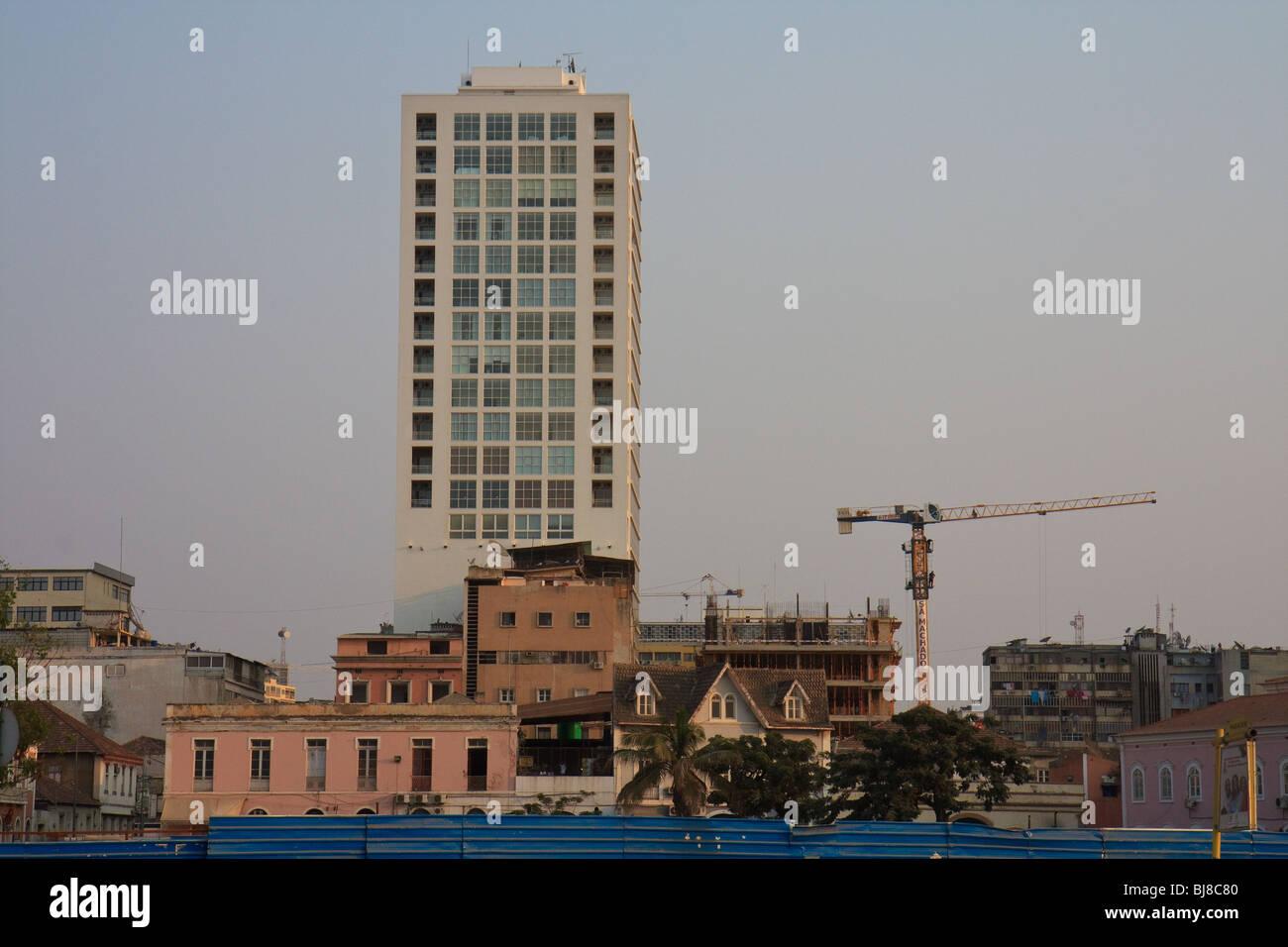 Africa Angola Luanda Office Skyscraper Street - Stock Image