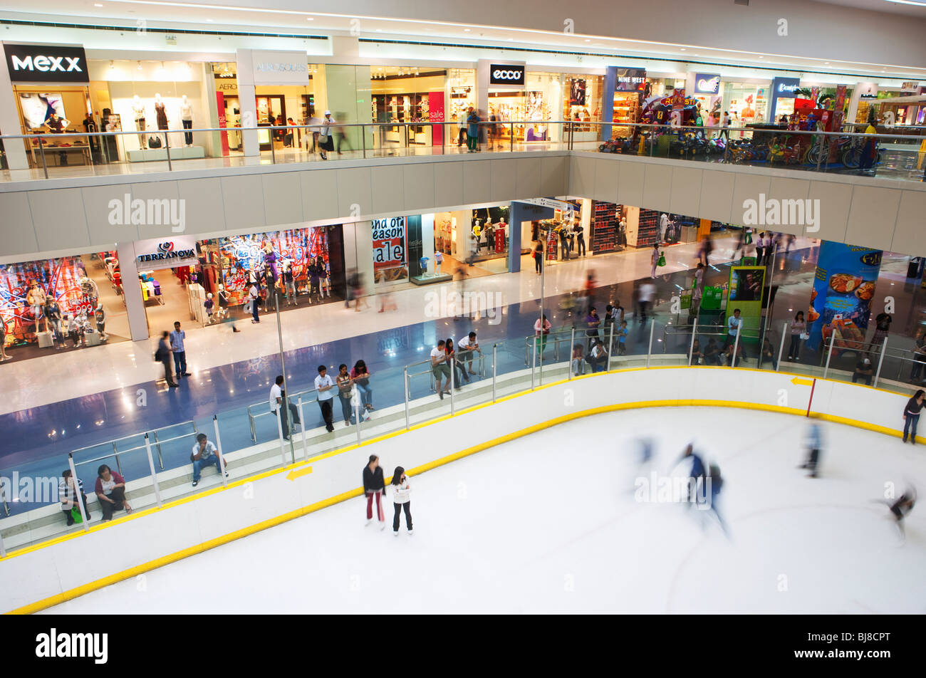 Ice skating in The Mall of Asia; Manila; Philippines - Stock Image