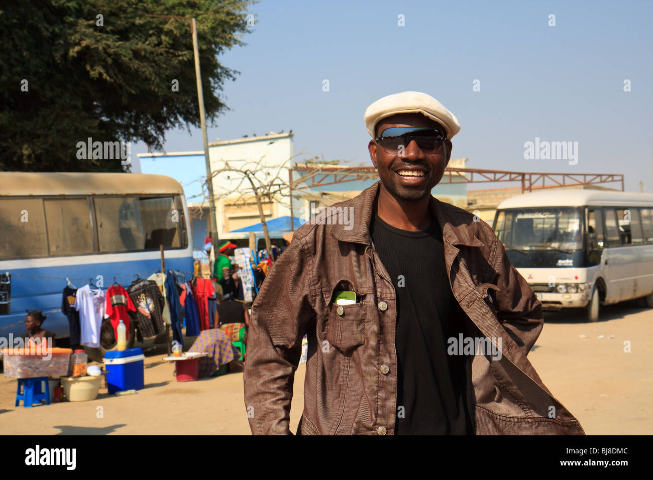 Africa Angola Benguela Streets Younger Men - Stock Image