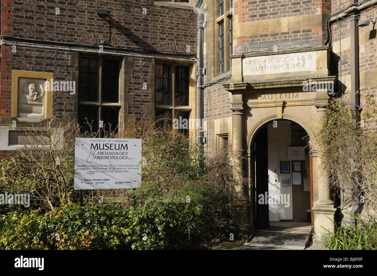 Museum of Archeology and Anthropology, Downing street, Cambridge, England UK - Stock Image