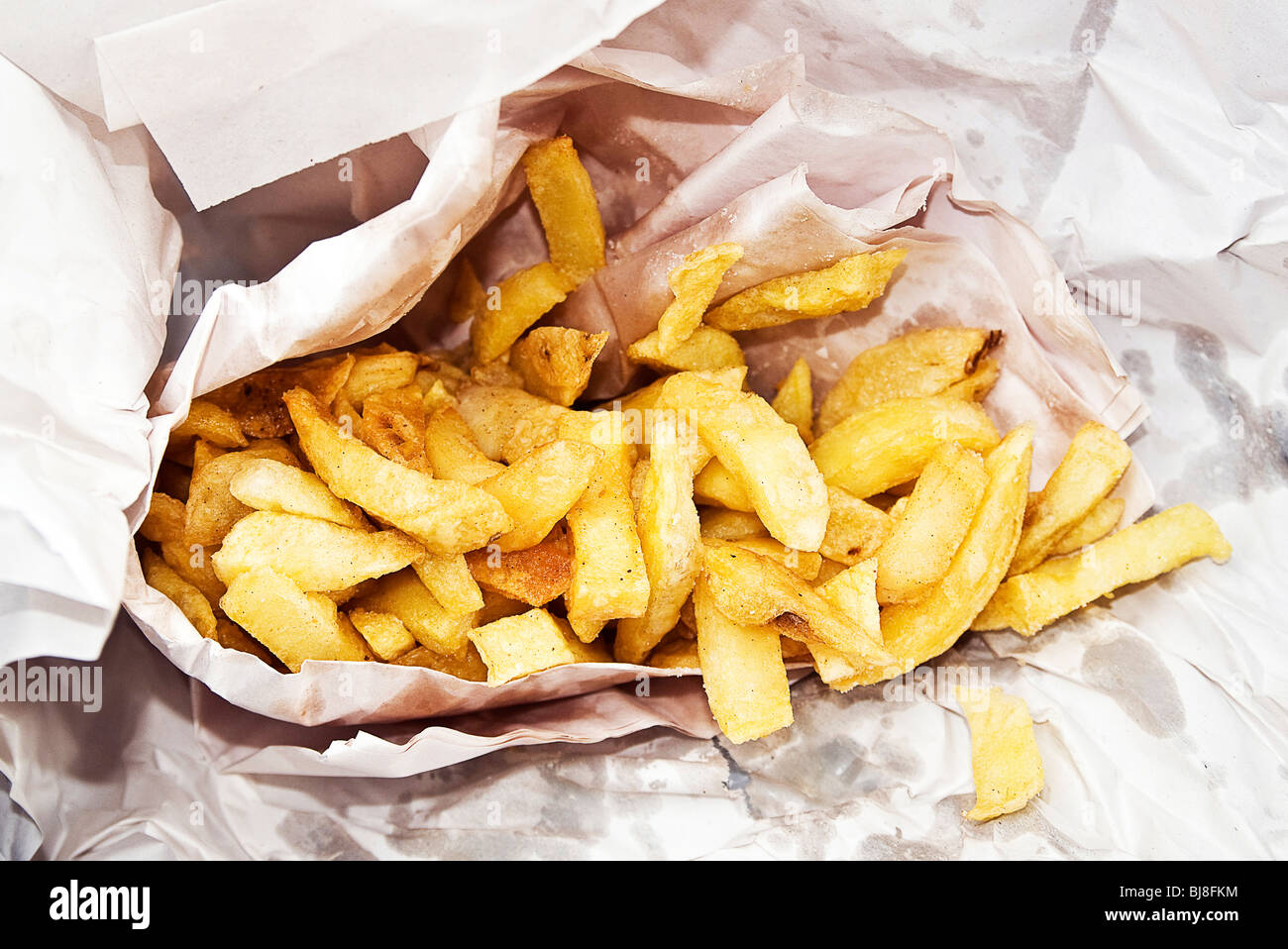 Bag of chips - Stock Image
