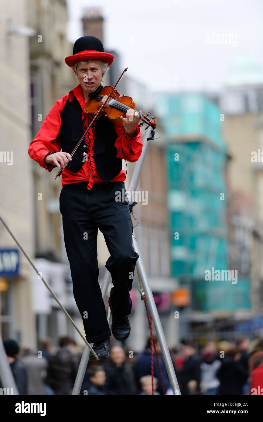 Street Entertainer - Stock Image
