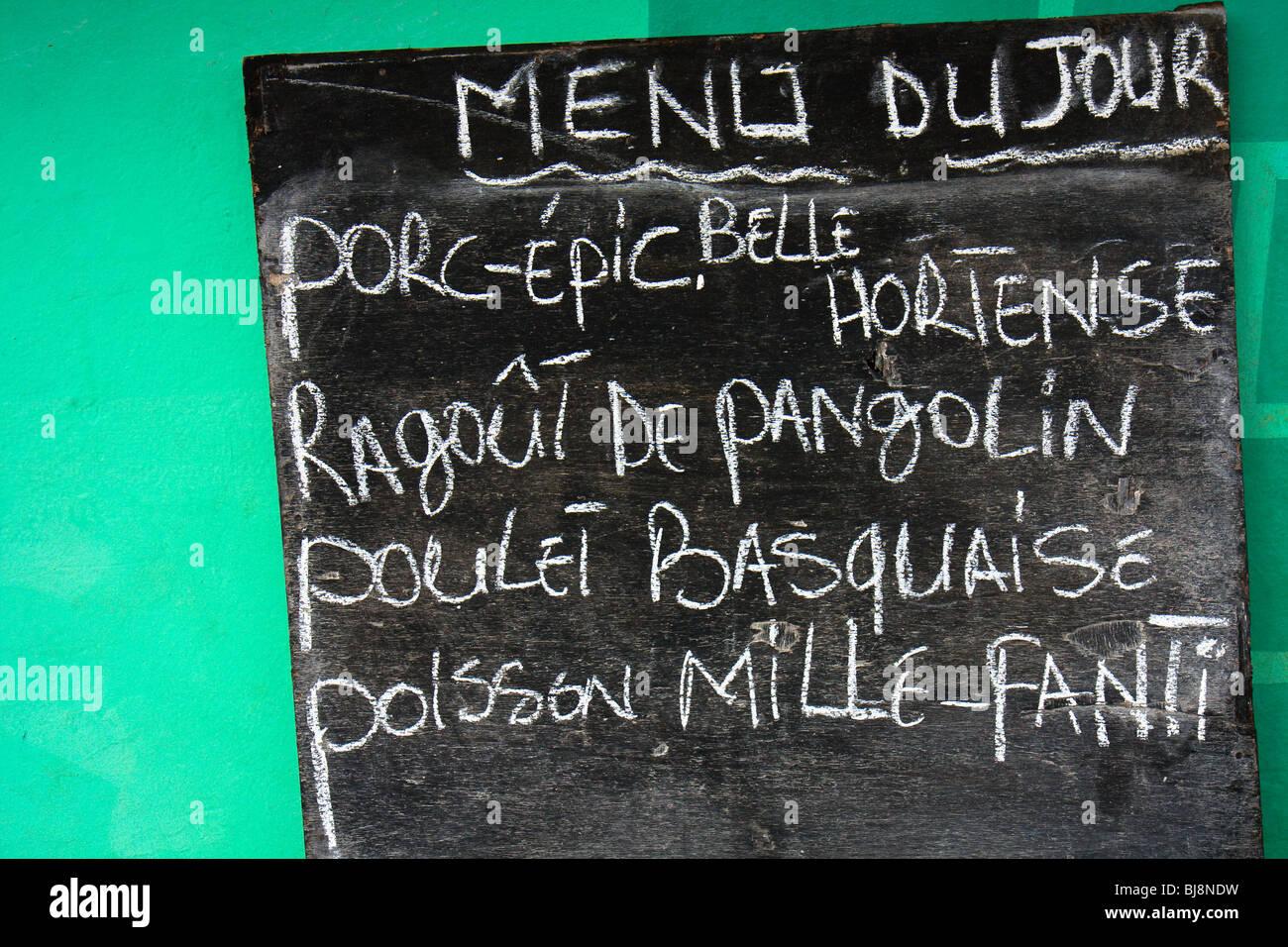 Africa Food Gabon Geometry Greens Oyem - Stock Image