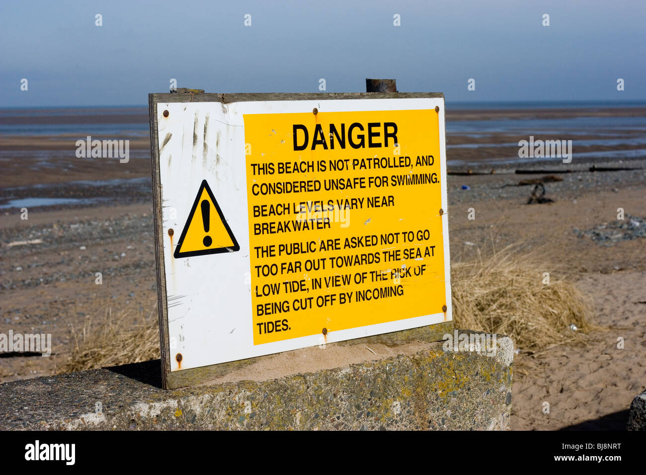 Beach Safety Sign Stock Photos Beach Safety Sign Stock Images Alamy