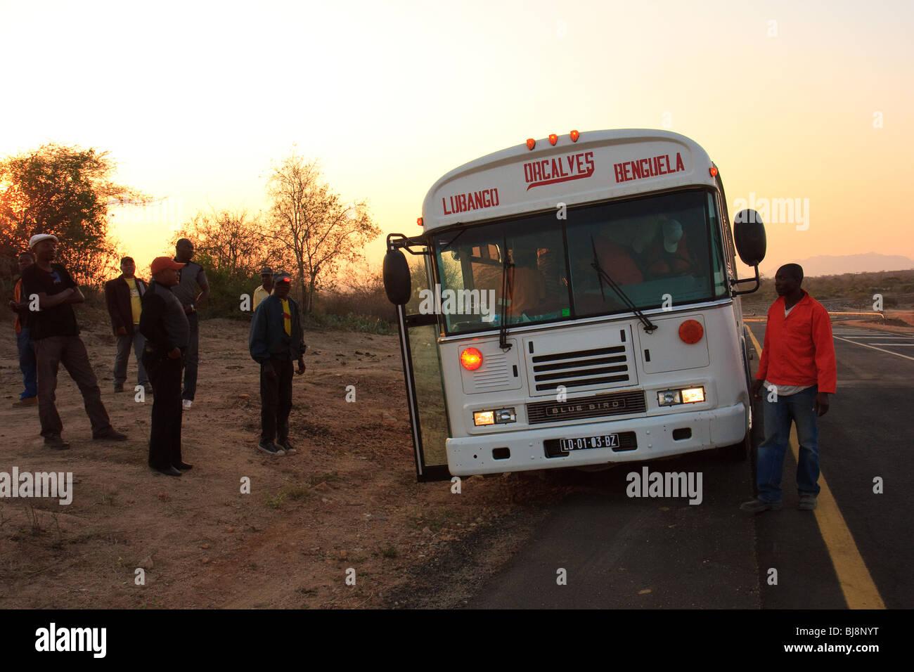 Africa Angola Benguela Lubango Buses Transport - Stock Image