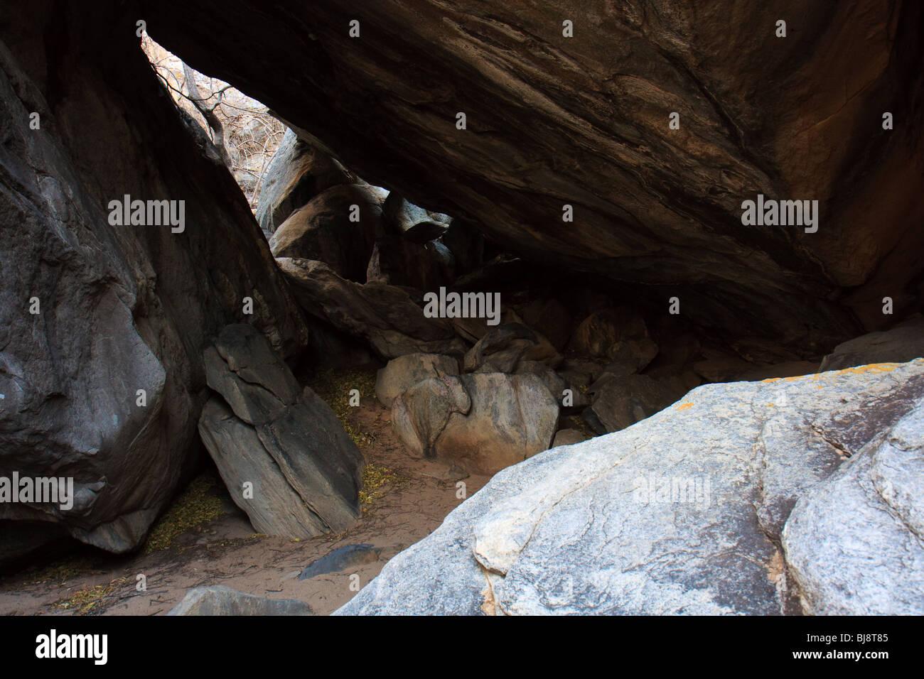 Africa Botswana Geometry Rocks Tsodilo Hills - Stock Image