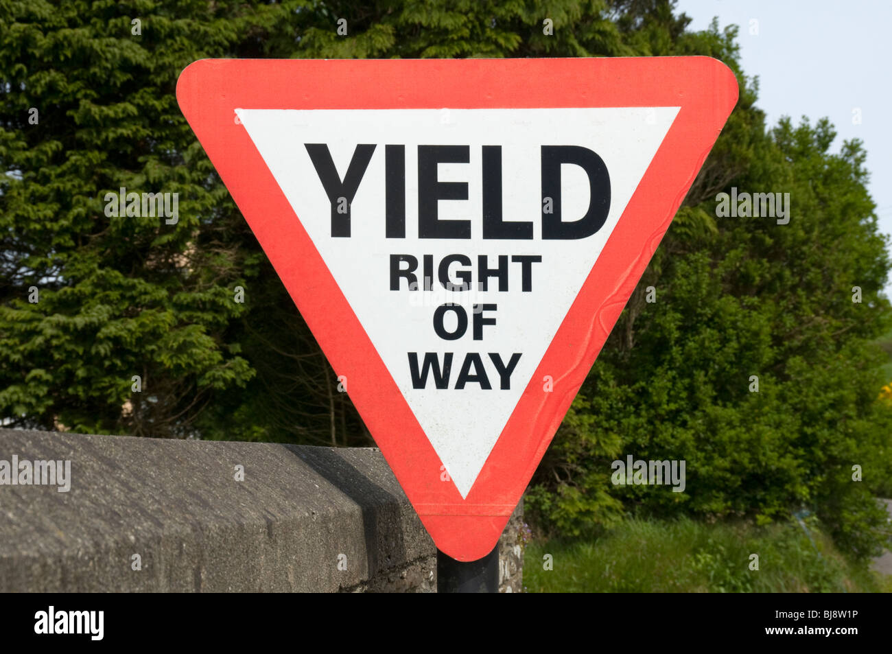 Road sign in County Cork, Ireland - Stock Image