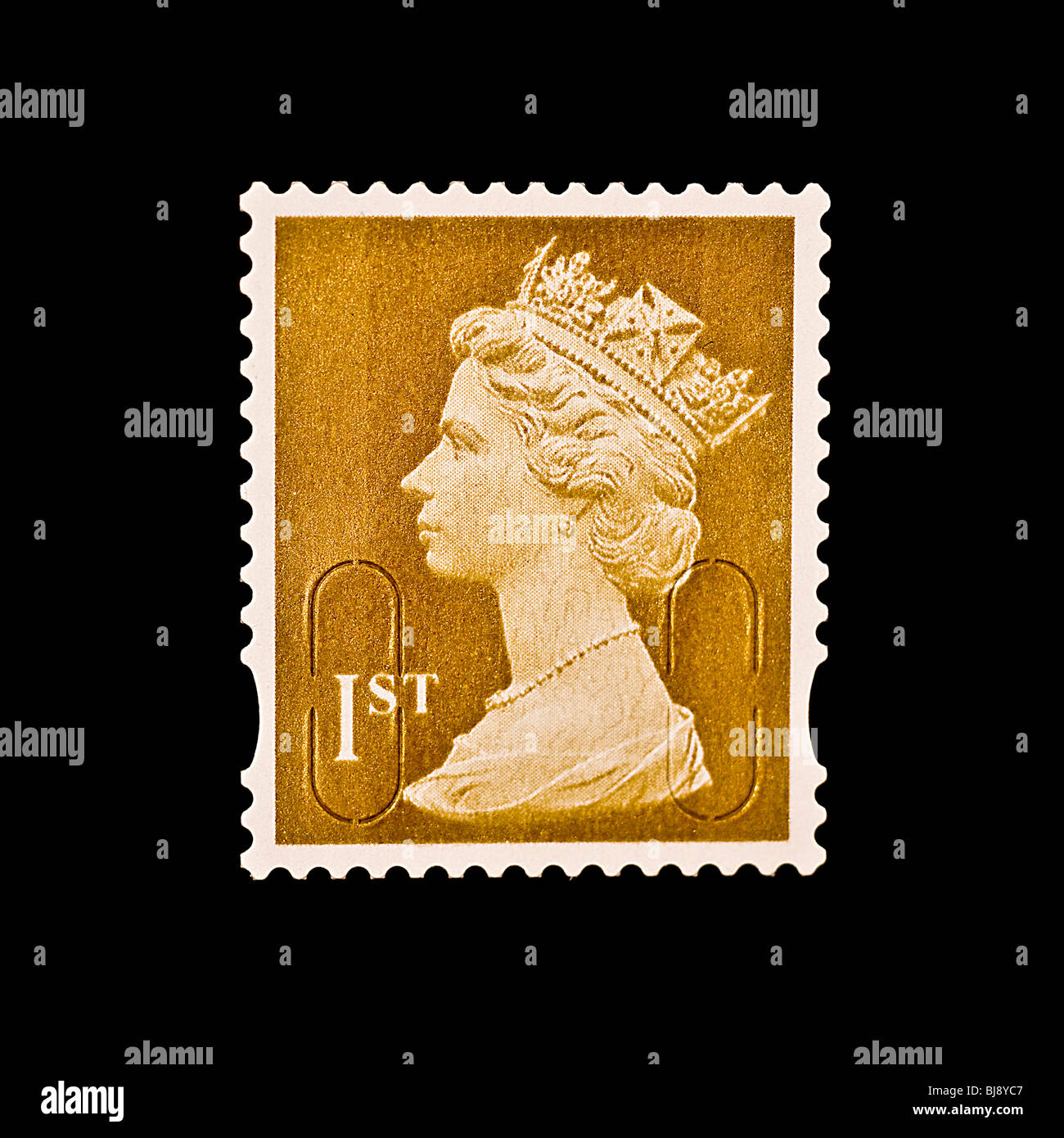 First class Postage stamp - Stock Image