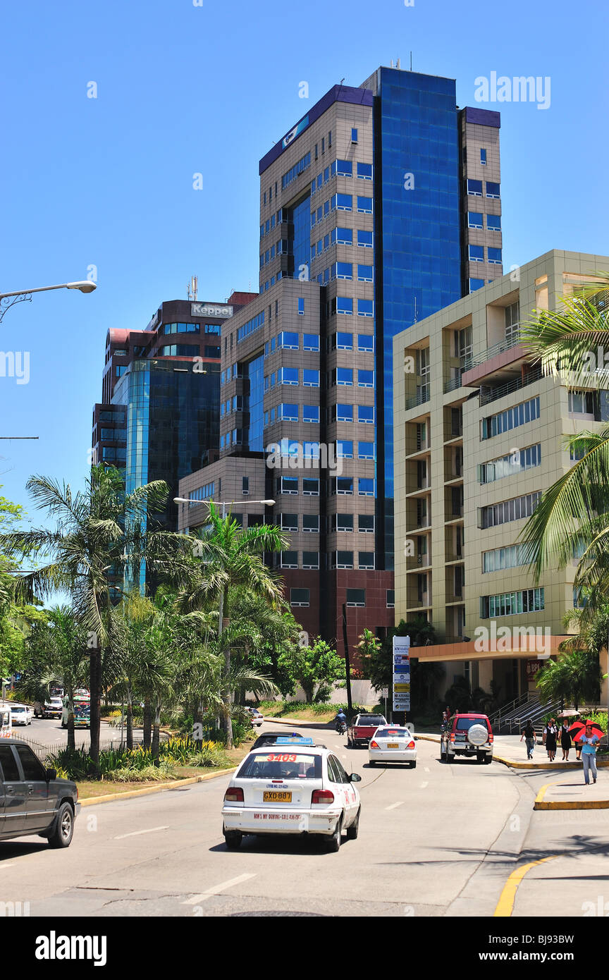 Cardinal Rosales Avenue showing Commercial/Business District Cebu City Philippines - Stock Image