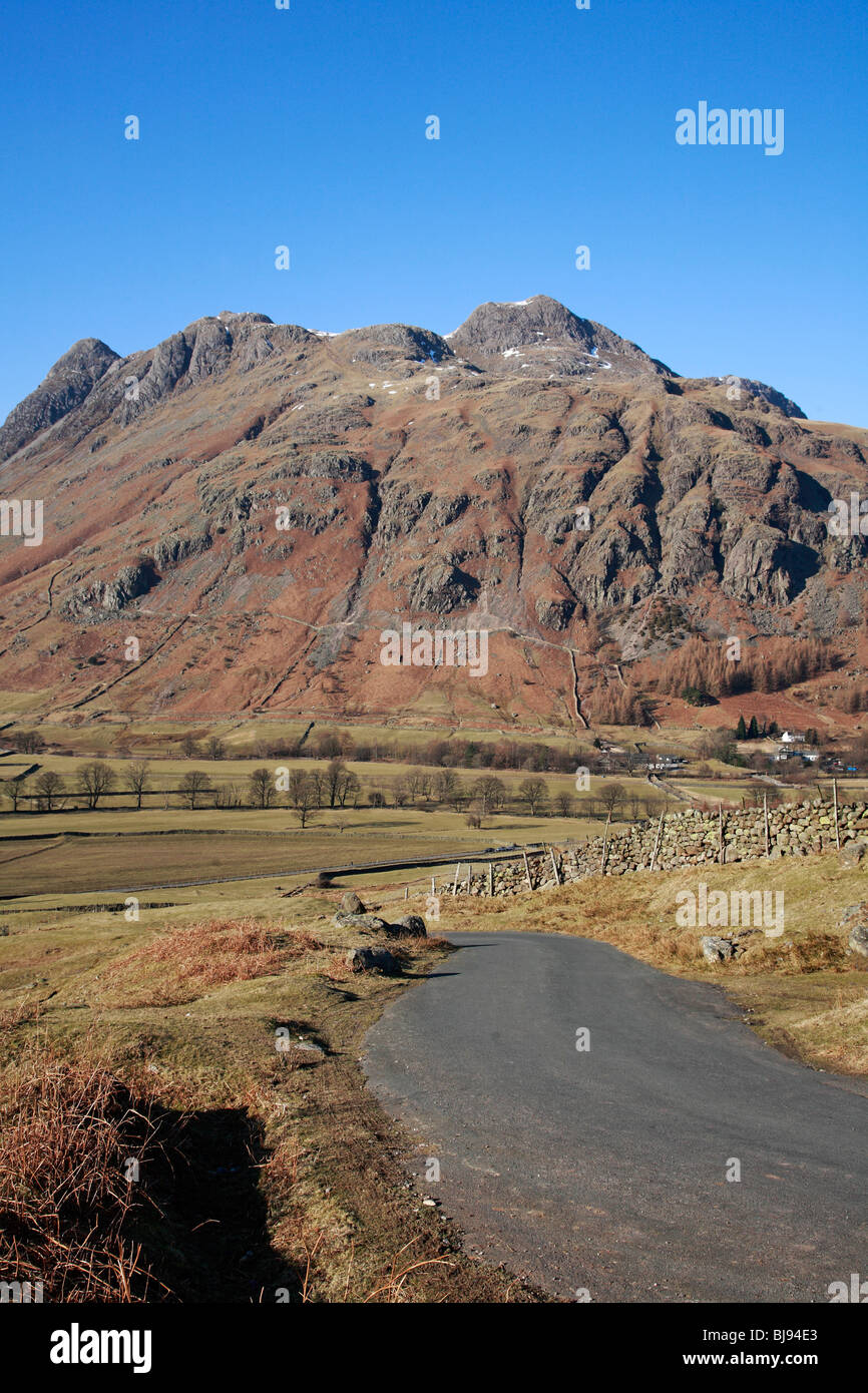 """Pike O Stickle Old Dungeon Ghyll """"Langdale Valley"""" """"Langdale Valley"""" Cumbria England UK United Kingdom EU European Union Europe Stock Photo"""