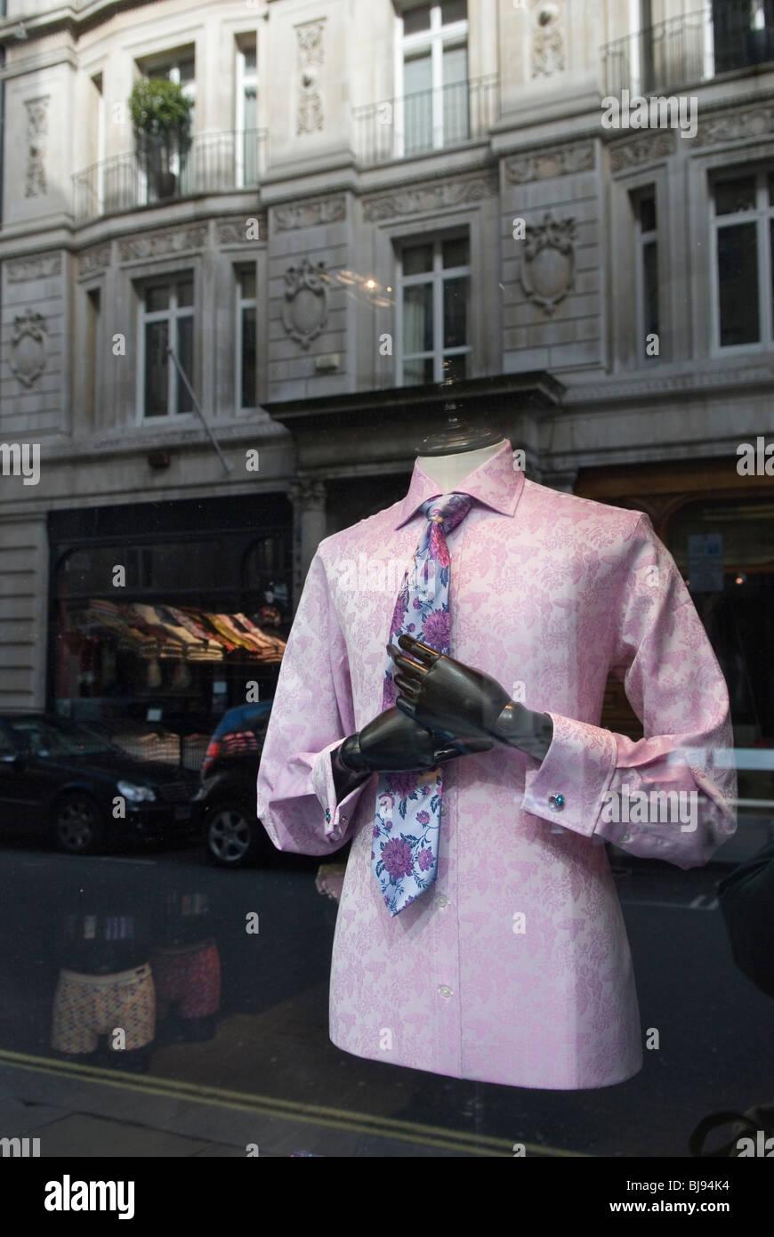 Jermyn Street London W1 Uk. Traditional mens clothing store. - Stock Image