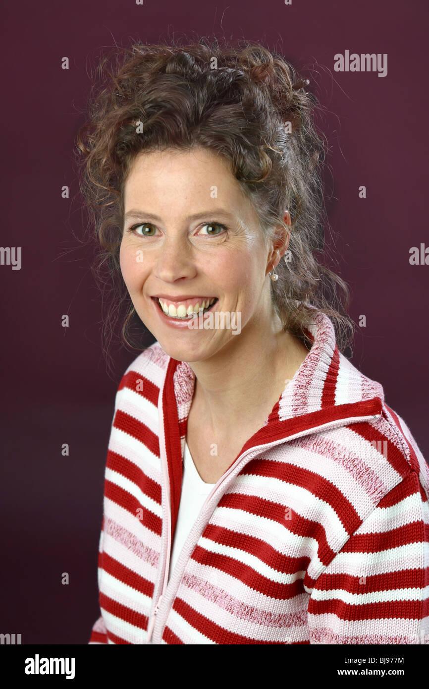 Adult woman teacher - Stock Image