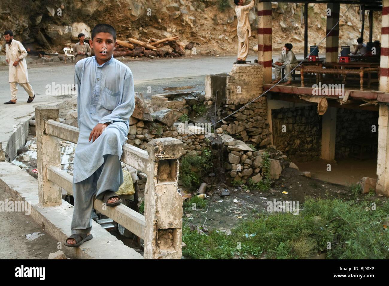 Gilgit-Baltistan Karakoram Kid Pakistan Portrait - Stock Image