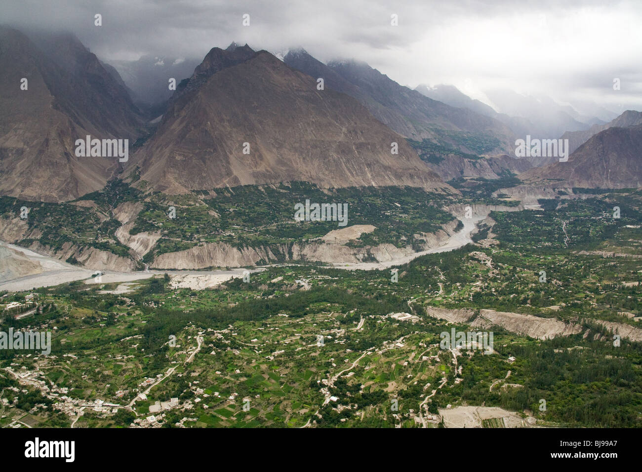 Baltistan Hunza Karakoram Karimabad Pakistan Stock Photo