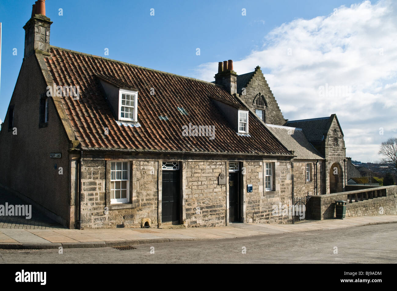 dh Andrew Carnegie Museum DUNFERMLINE FIFE Andrew Carnegie birthplace cottage Museum building scotland Stock Photo