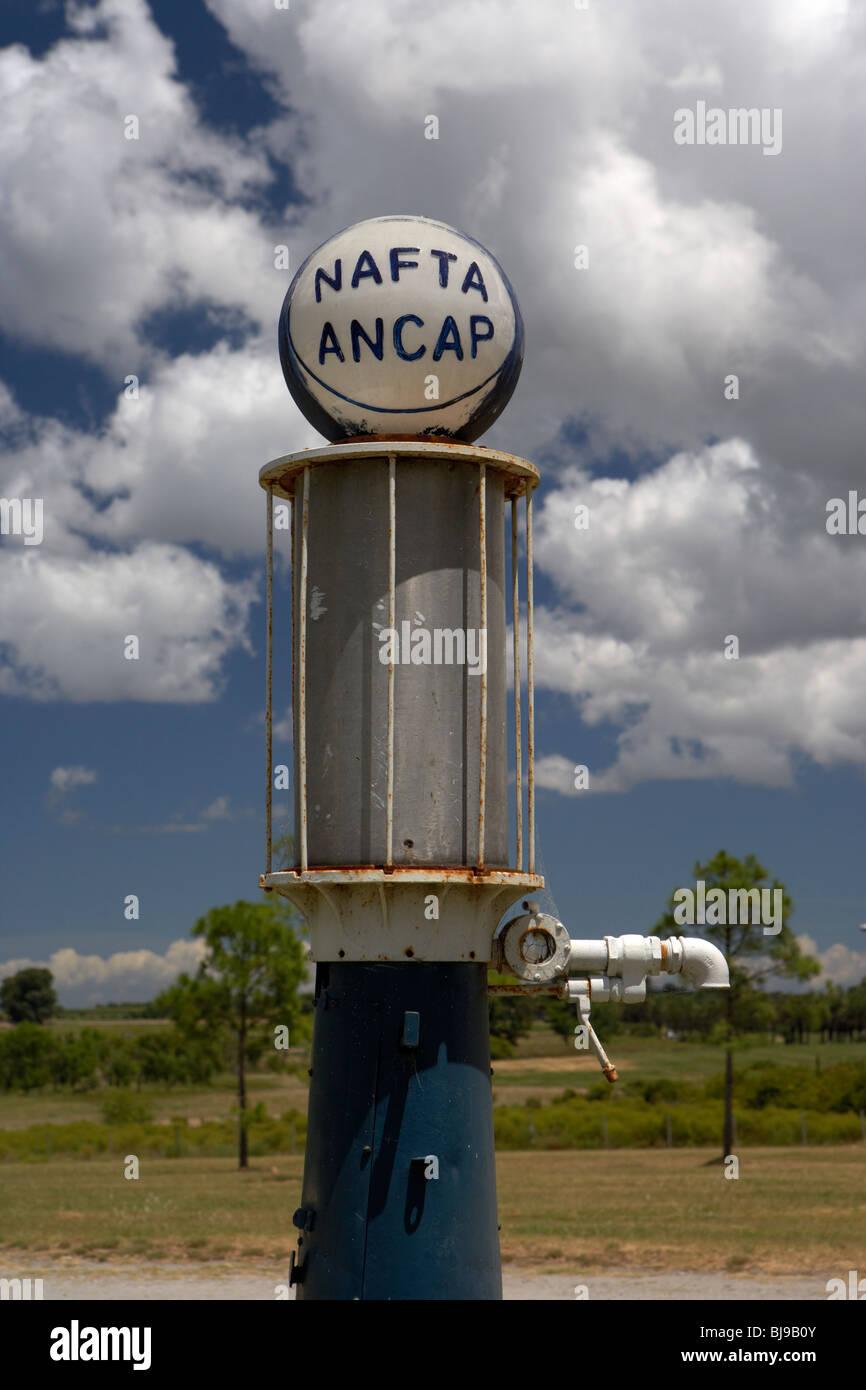 ancap nafta vintage petrol pump on a farm in Colonia Del Sacramento Uruguay South America Stock Photo