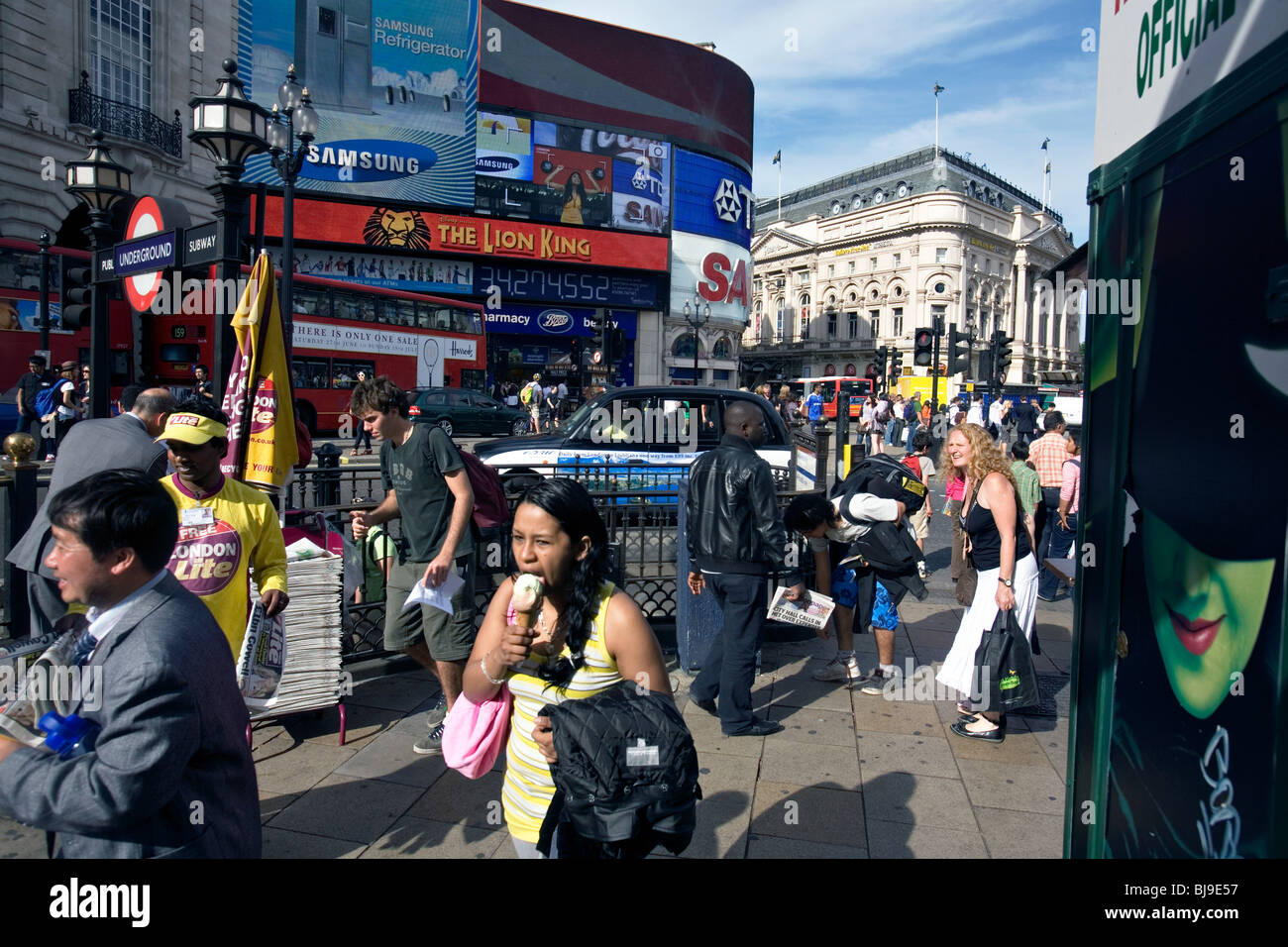 piccadilly circus in london - Stock Image