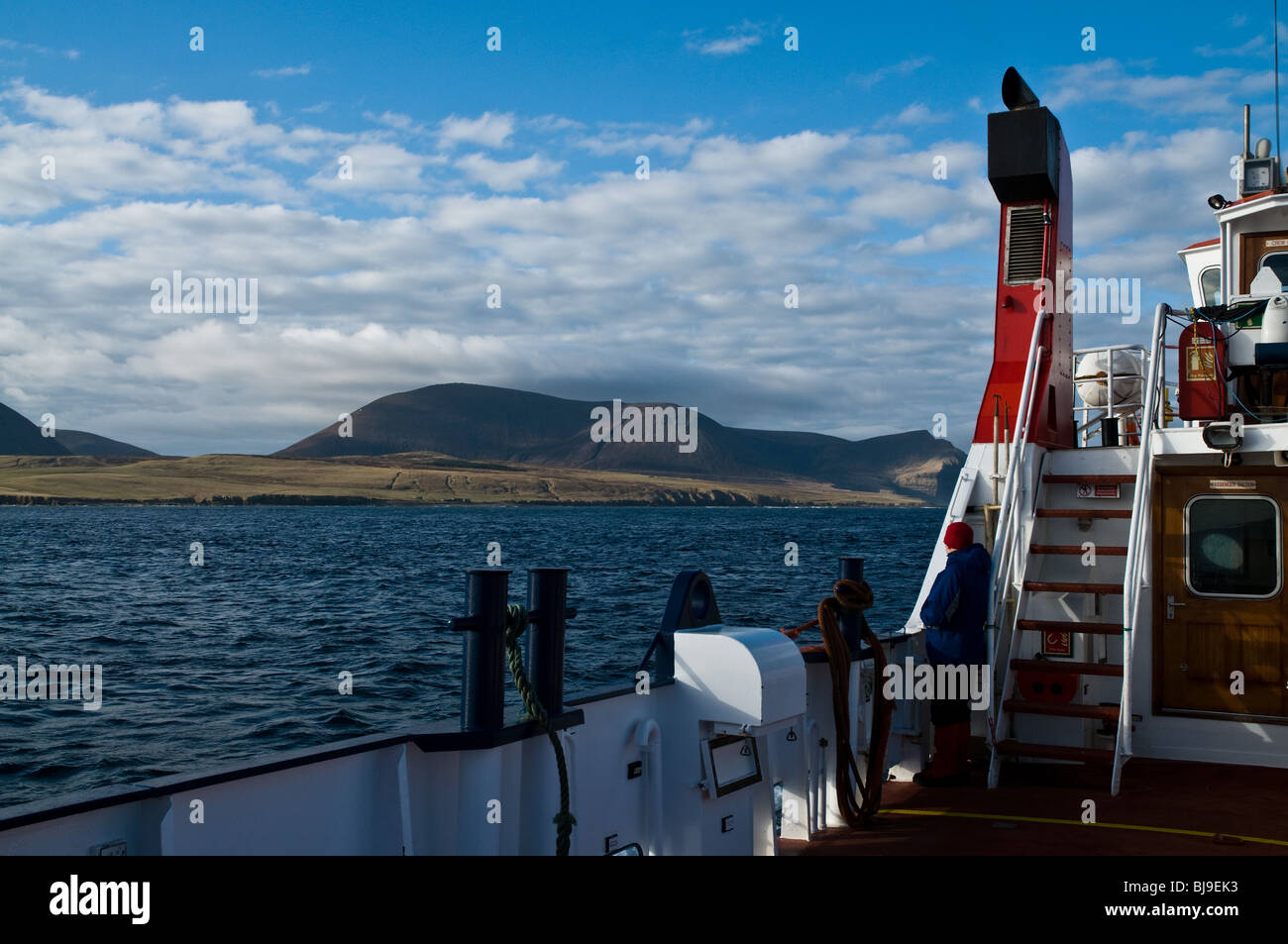 dh Orkney ferries HOY SOUND ORKNEY Hoy Hills view from aboard Orkney Ferries MV Graemsay tourist passenger Stock Photo