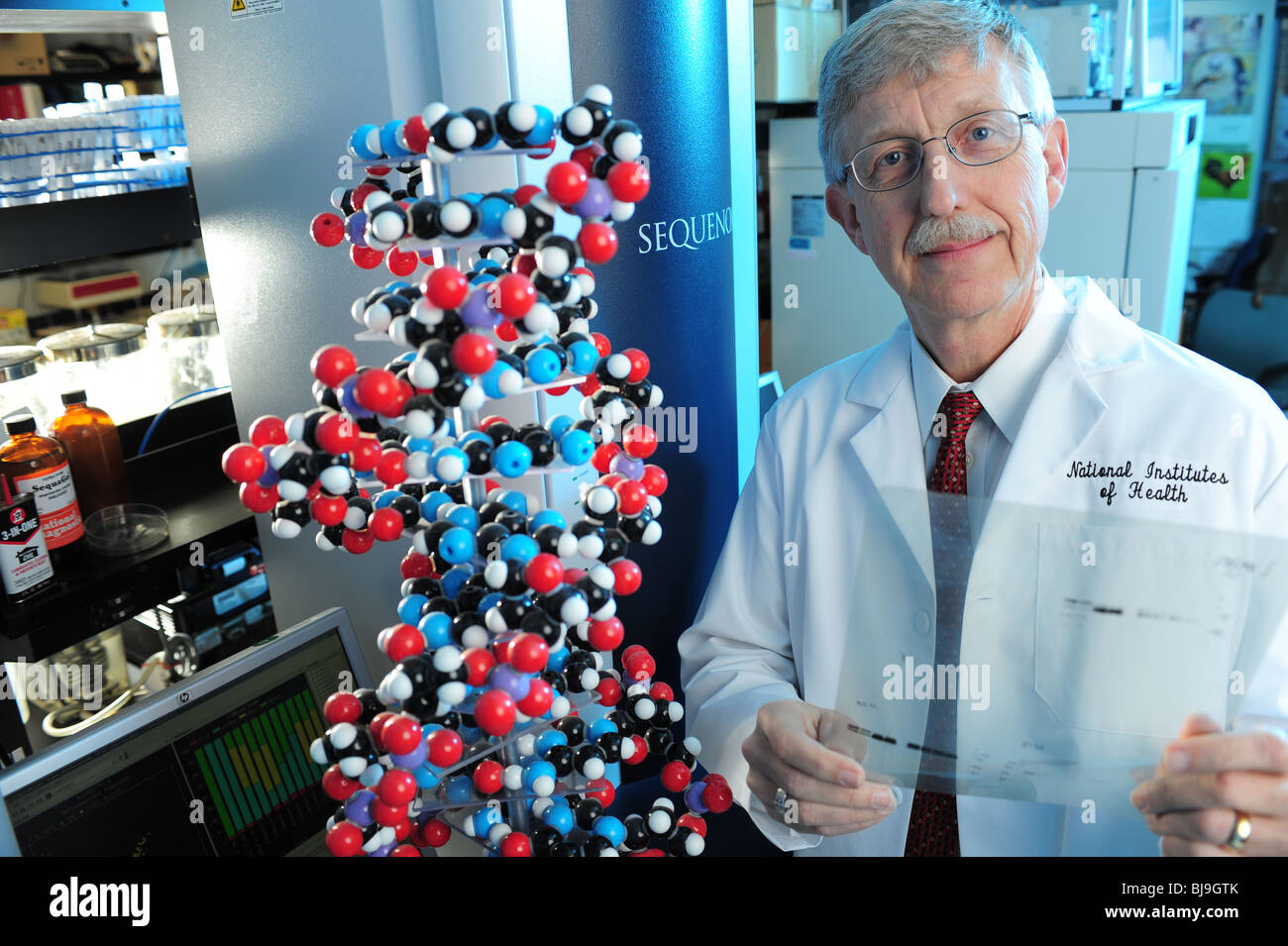 Dr.Francis Collins former director of the Human Genome Project, Now Director of the National Institutes of Health - Stock Image