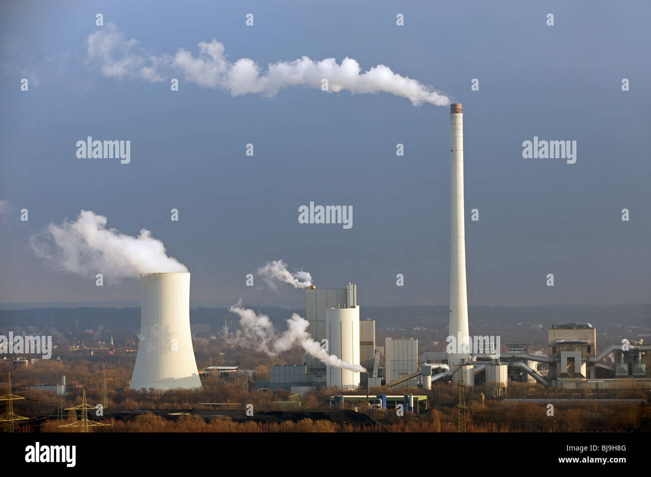 Coal fired power station, Germany. - Stock Image