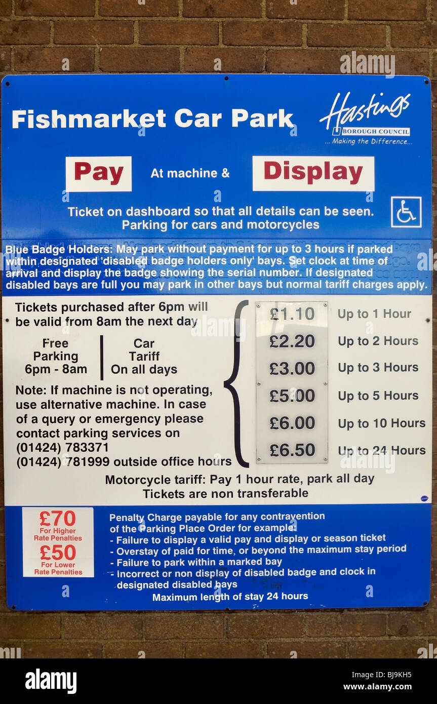 Car Parking Fees - Stock Image