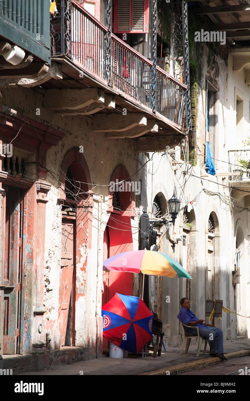 Casco Viejo, Casco Antiguo, Old City, Panama City, Panama, Central America  - Stock Image