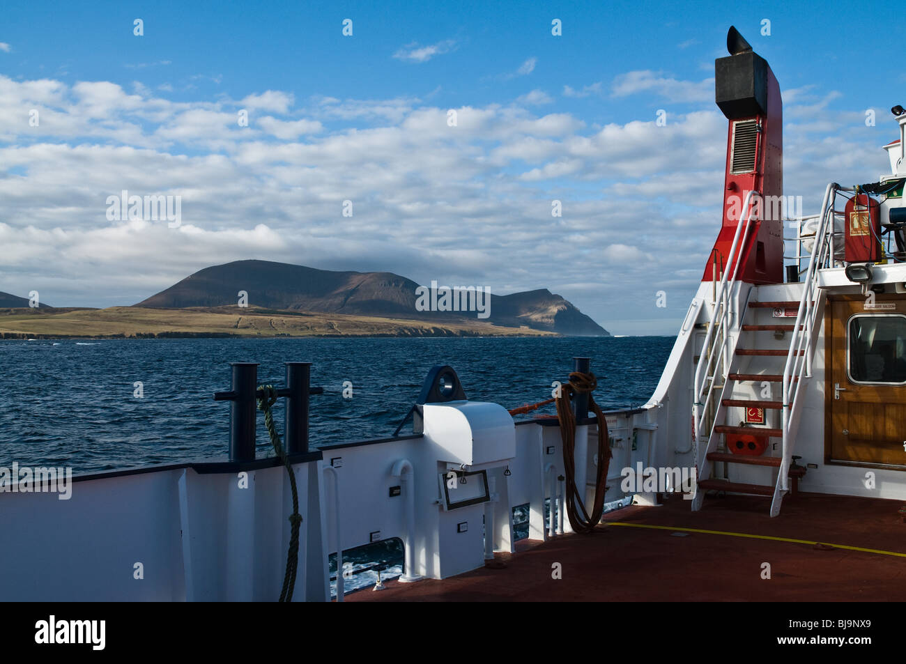 dh Orkney ferries HOY SOUND ORKNEY Hoy Hills view from aboard Orkney Ferries MV Graemsay Stock Photo