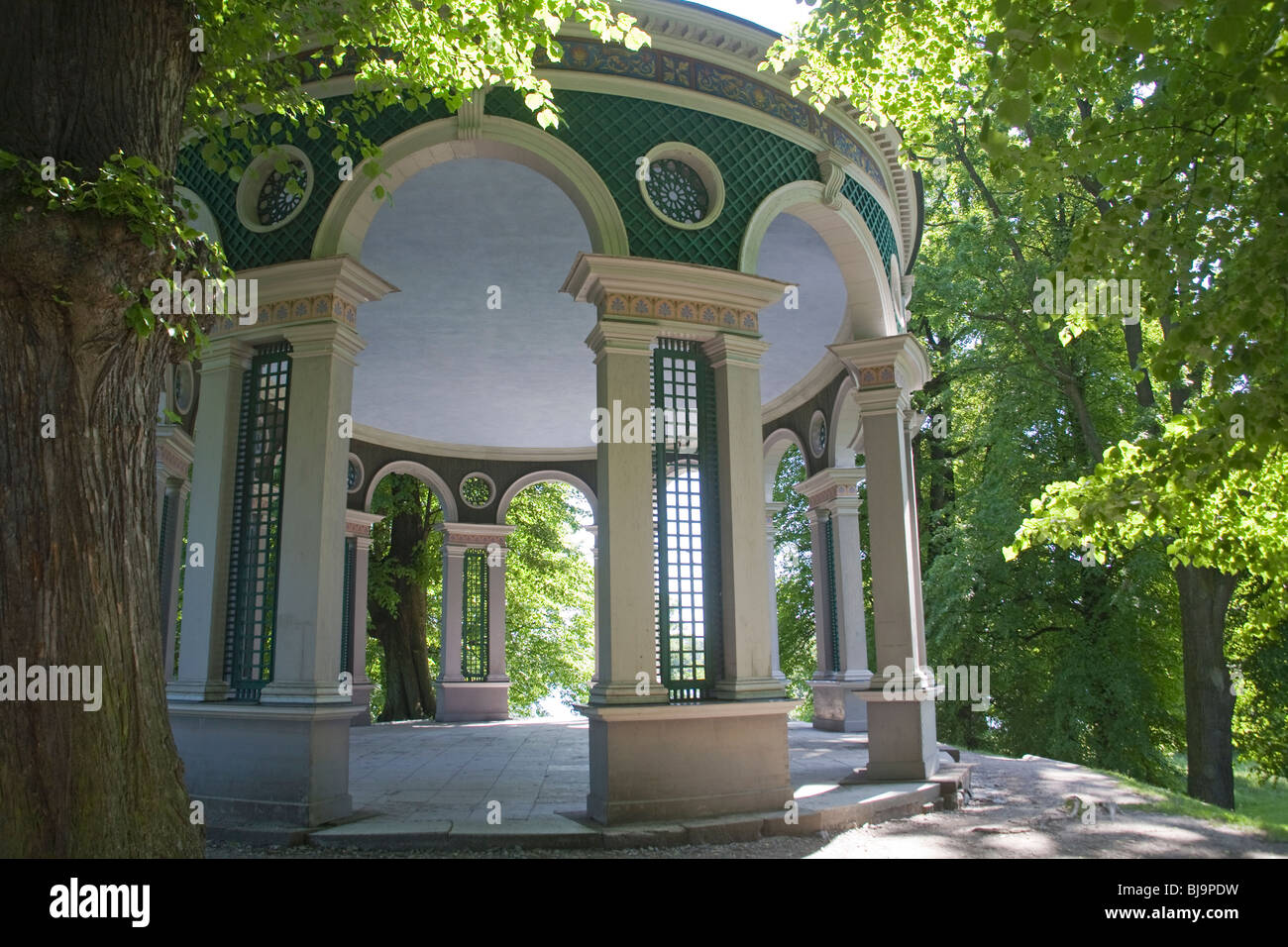 The temple of the Echo at the Haga park Stockholm Sweden - Stock Image