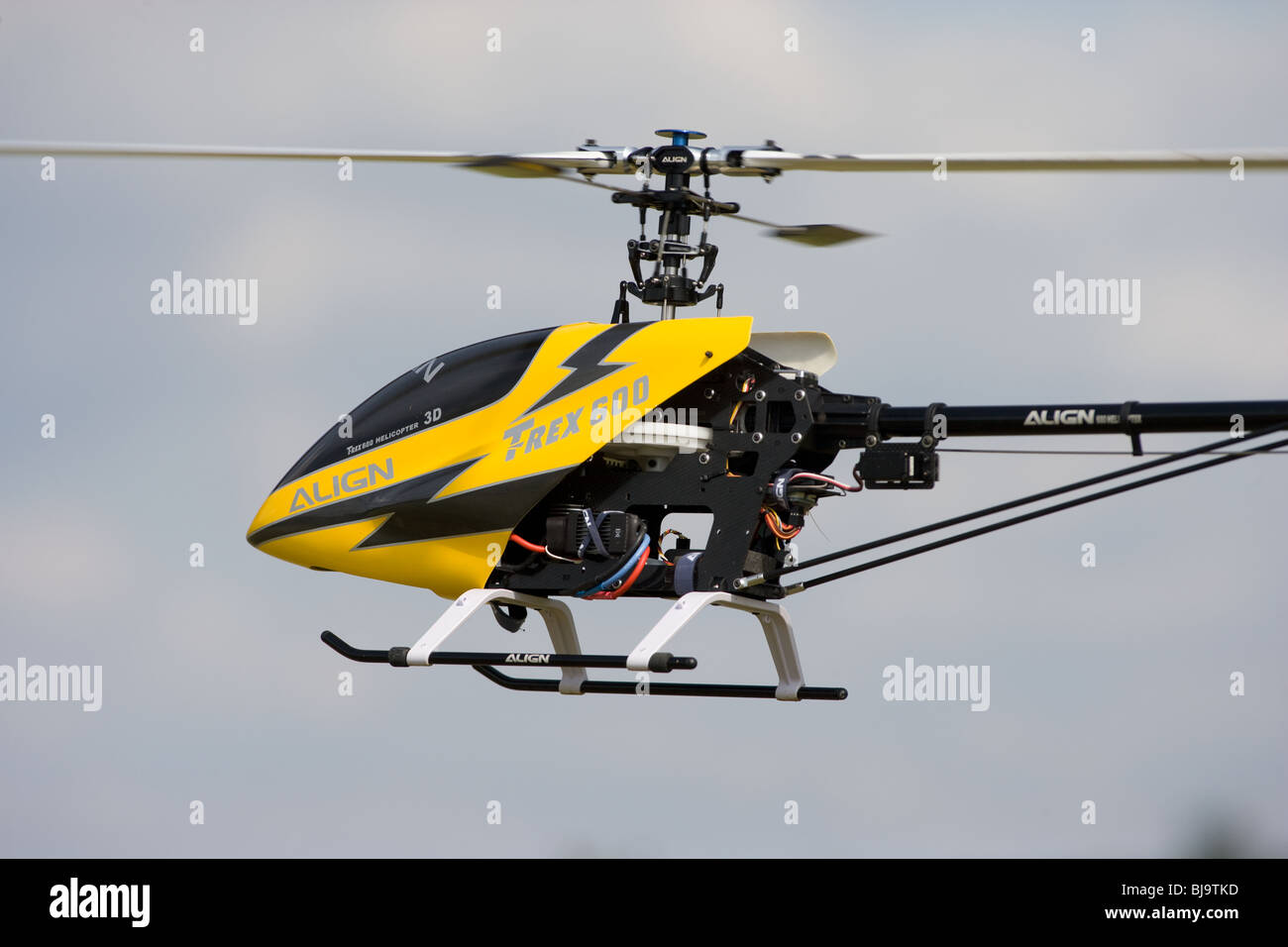 Radio Controlled Model Helicopter In Flight - Stock Image