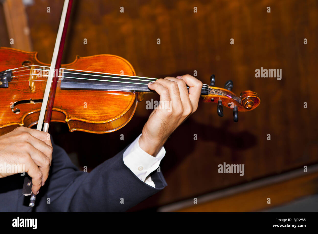 A male violinist - Stock Image