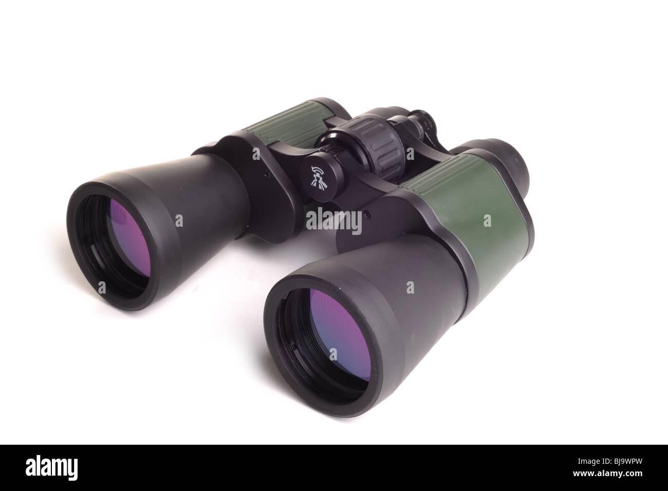 Binoculars photographed in studio against a white background - Stock Image