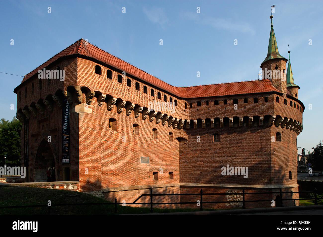 North of the Main Market ( Grand Square),Barbican,Cracow, Krakow,Poland Stock Photo
