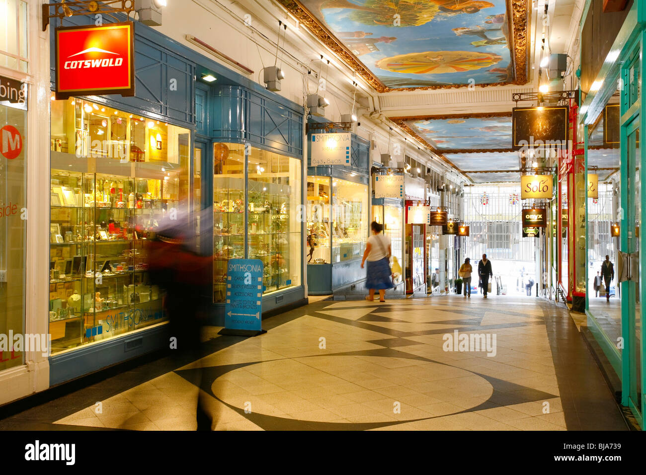 picadilly arcade, birmingham. Shopping and retail outlets - Stock Image