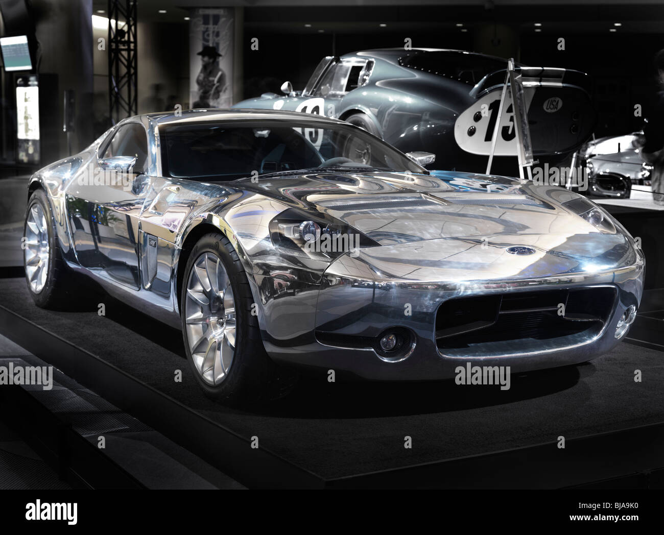 Ford Shelby GR-1 Coupe with shiny aluminum body at Canadian international auto show - Stock Image