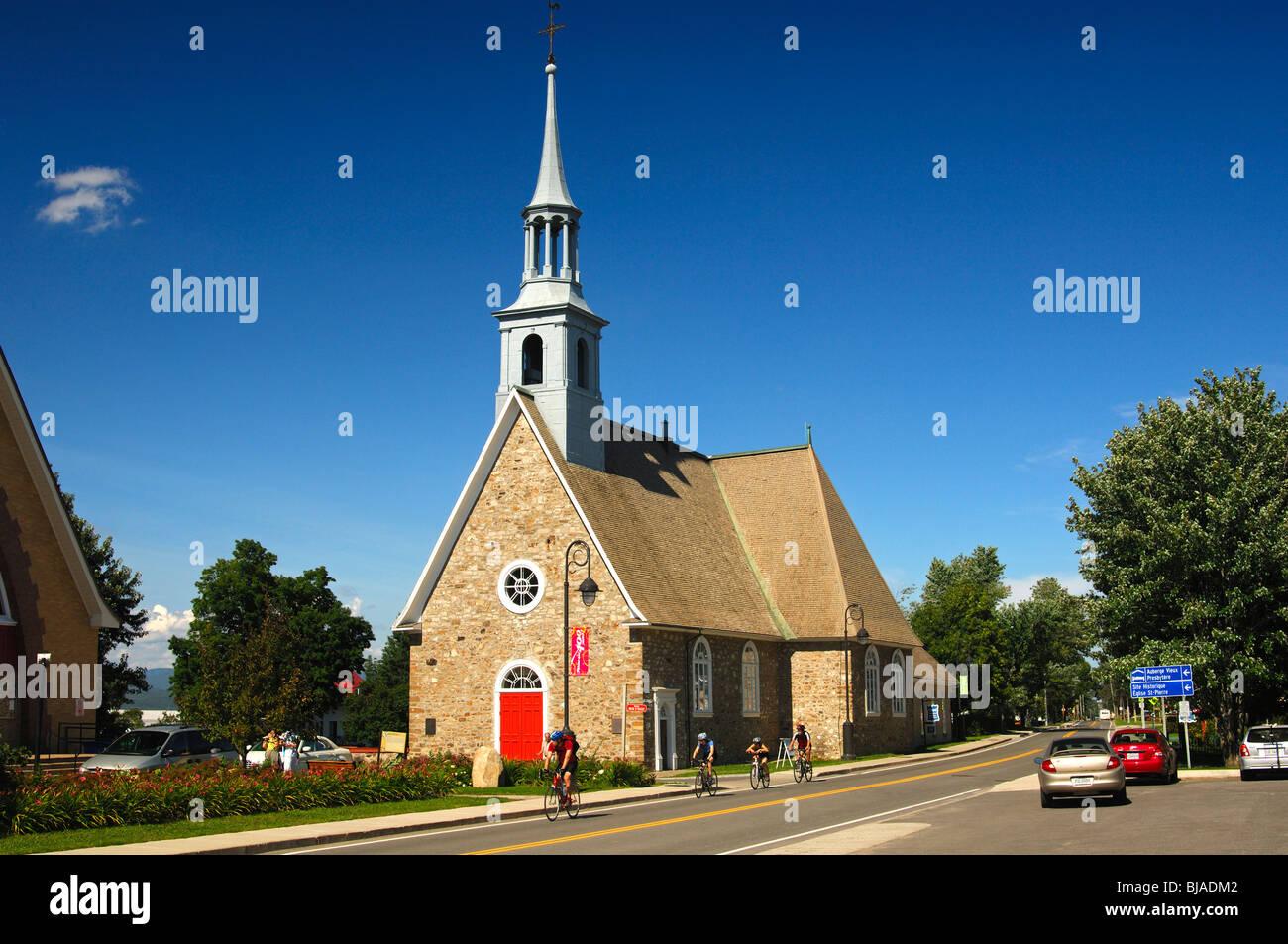 Saint-Pierre-et-Saint-Paul Church in the municipality St-Pierre-de-l'Ile-d'Orleans, Orleans Island, Province - Stock Image