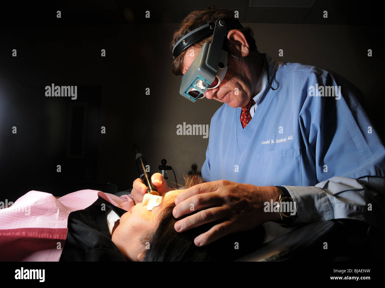 Gerald N. Goldberg, M.D., of Pima Dermatology, practices adult, pediatric and cosmetic dermatology and laser and - Stock Image
