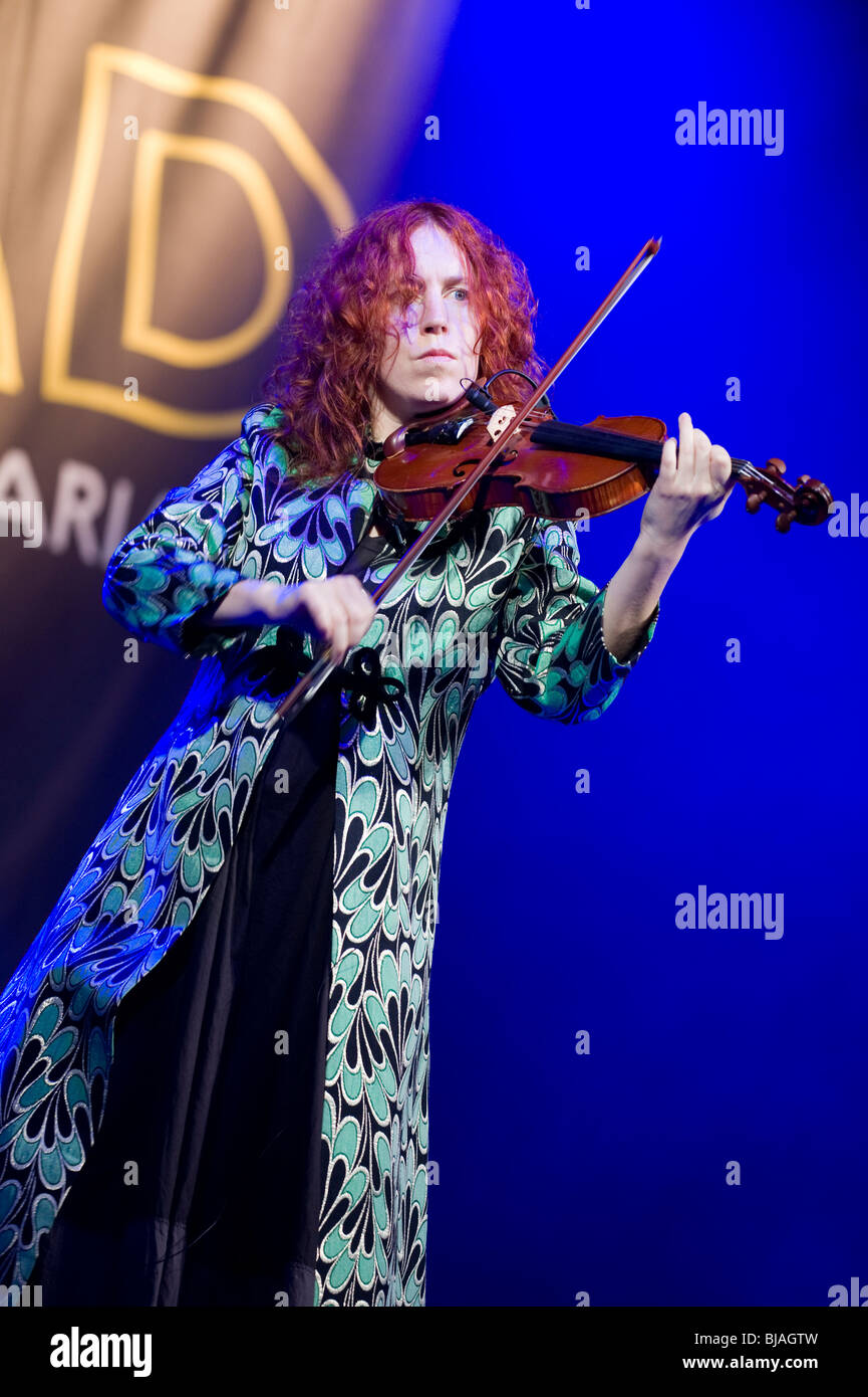 Jane Harbour in Spiro from UK performs onstage during the festival Womad November 12, 2009 in Canary Islands, Spain - Stock Image