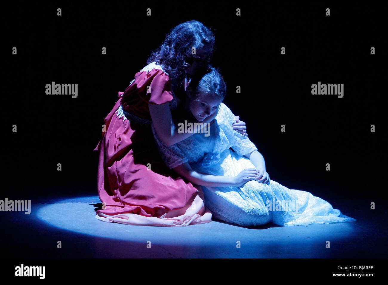American high school student performance of The Glass Menagerie - Stock Image