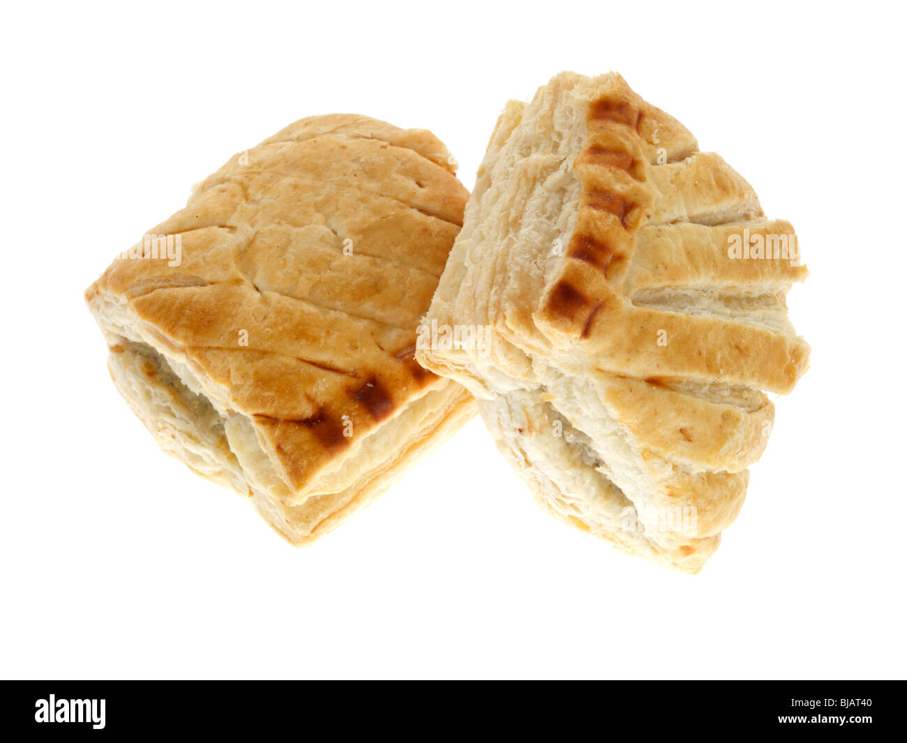 Reduced Fat Sausage Rolls - Stock Image