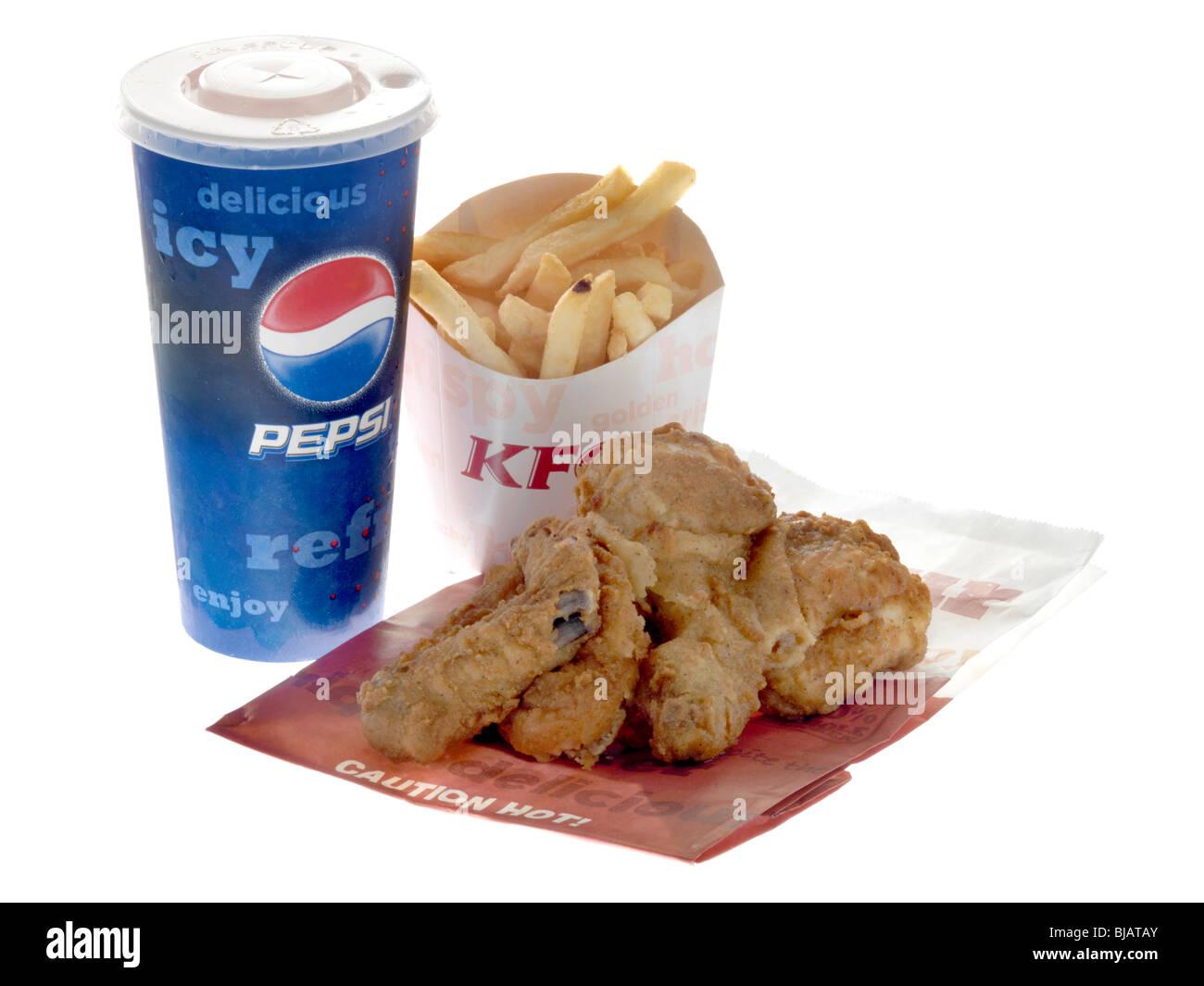 Original Recipe Fried Chicken Meal - Stock Image