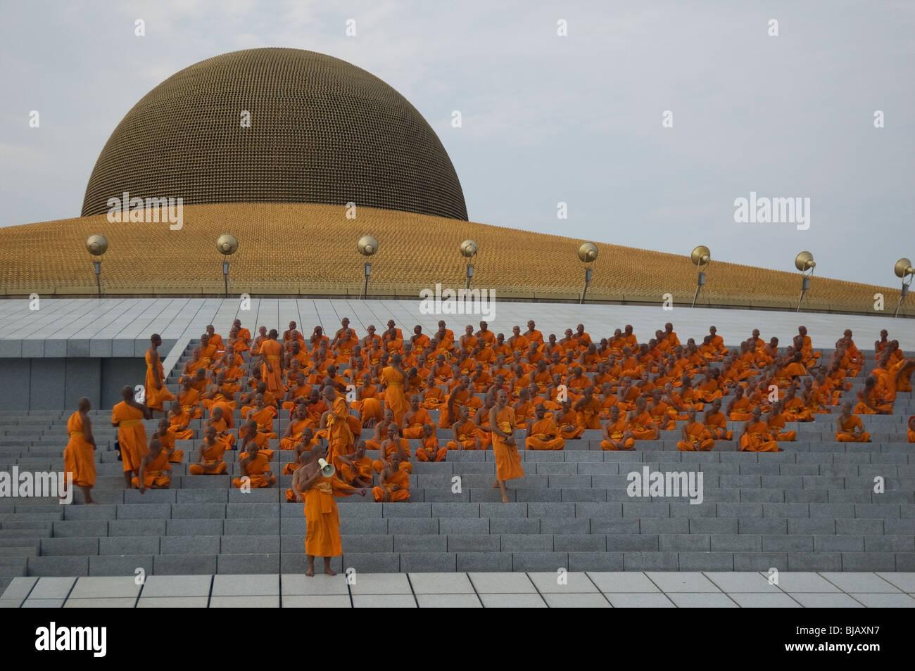 Wat Phra Dhammakaya Pathum Thani Bangkok Thailand Stock Photo