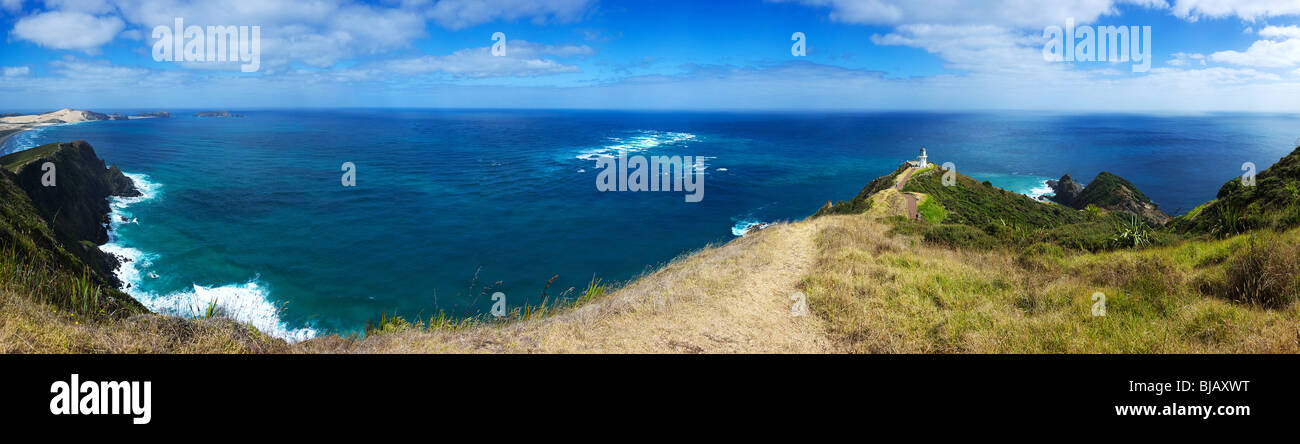 New Zealand, North Island,  Panorama, Cape Reinga - Stock Image