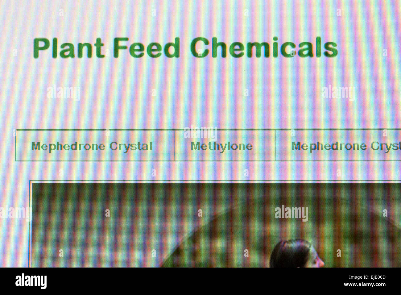 website selling the drug mephedrone legally in the uk as plant feed chemicals - Stock Image
