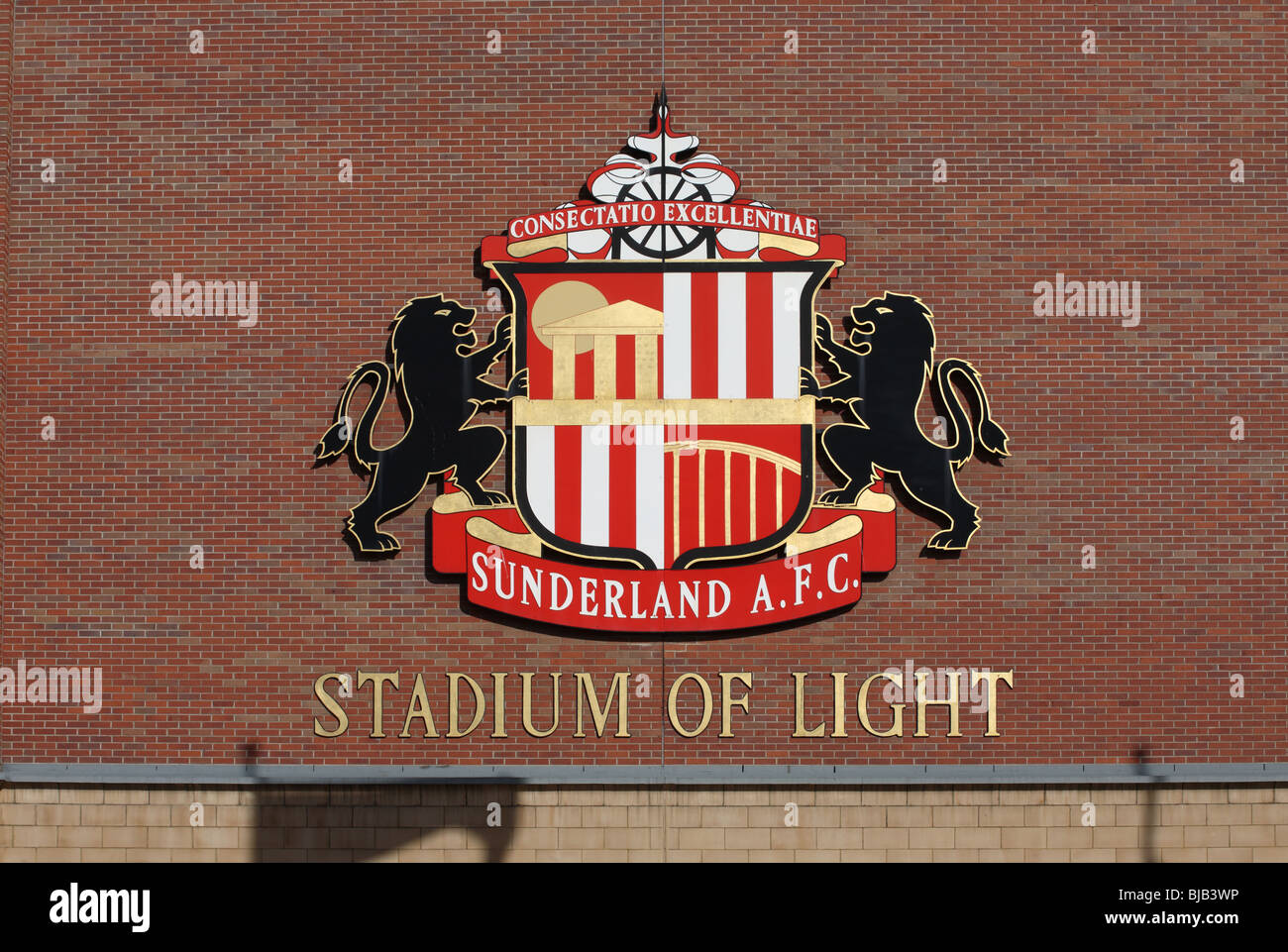 timeless design b171d 68827 The coat of arms of Sunderland football club seen on the ...