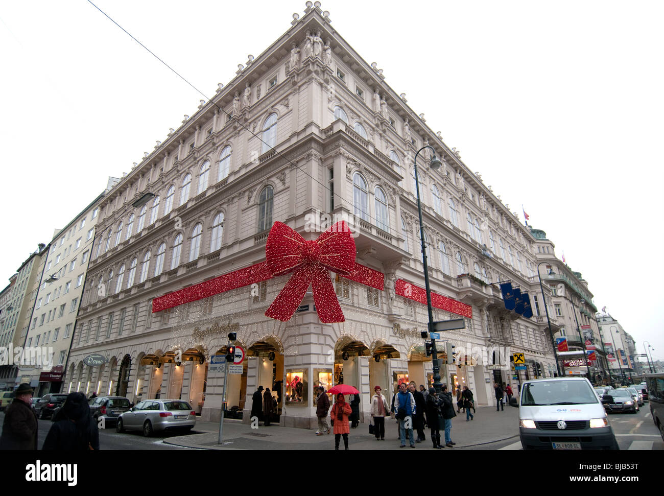 Amazing Beautiful Red Bow Christmas Decoration On Popp And Kretschmer Departmental  Store In Vienna, Austria