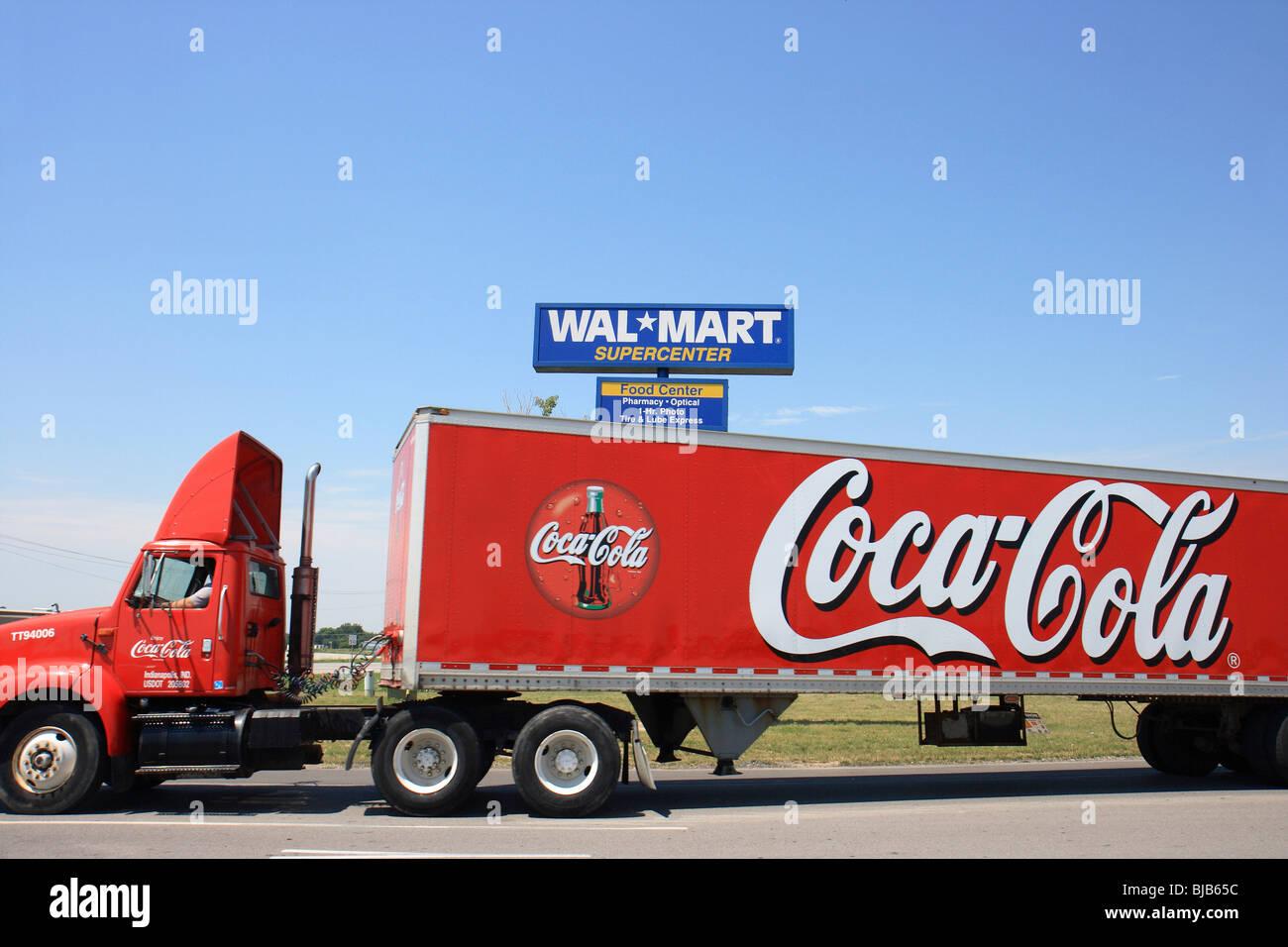 coca cola truck lorry usa stock photos  u0026 coca cola truck