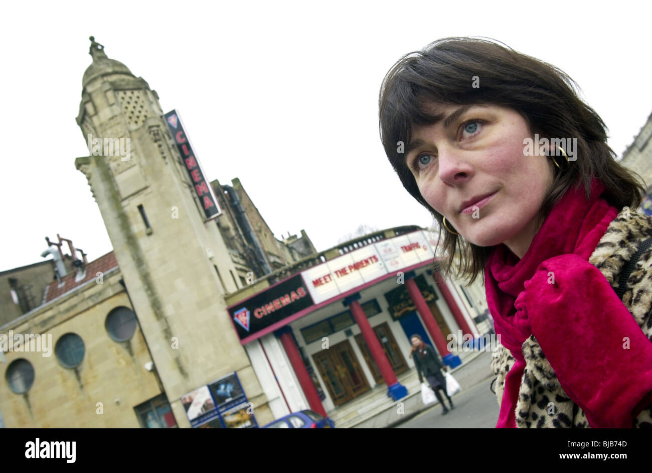 Campaigner who is leading a group of local people trying to save the grade II listed ABC Cinema from closure, it - Stock Image